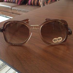 Vintage folding retro sunglasses